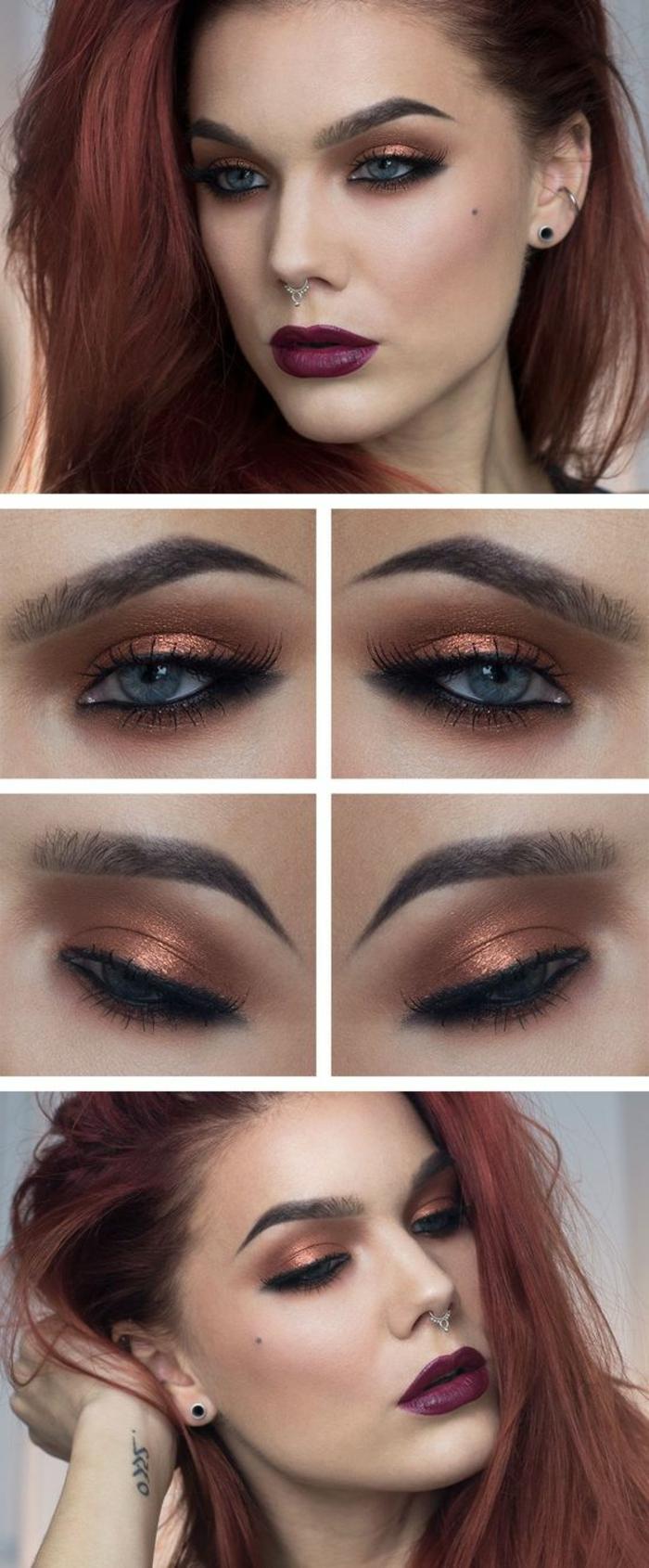 maquillage-oeil-de-chat-couleur-couchée-de-soleil