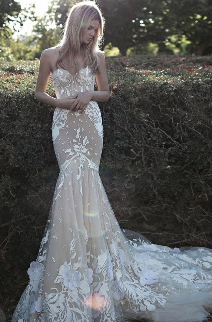 mariage-robe-de-mariée-longue-blanche-admirable-robe-dentelle