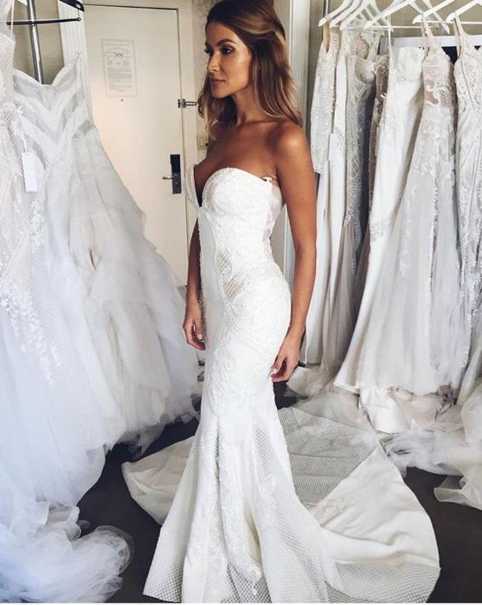 mariage-robe-de-mariée-longue-blanche-adorable-mariee