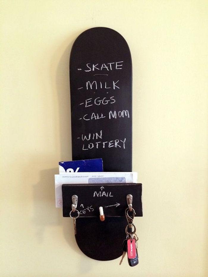 meuble etagere deco planche skateboard mur meuble mural