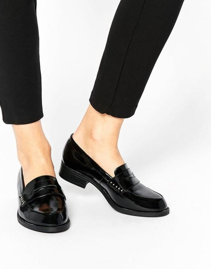 mocassins noir femme très confortable pour le quotidien