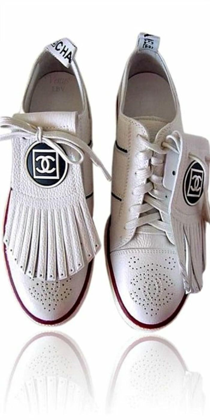 moccassin femme basket caché 2 looks en 1 Chanel