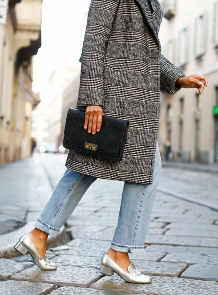 mocassin vernis femme talons de 5 cm larges à porter aussi avec des jeans