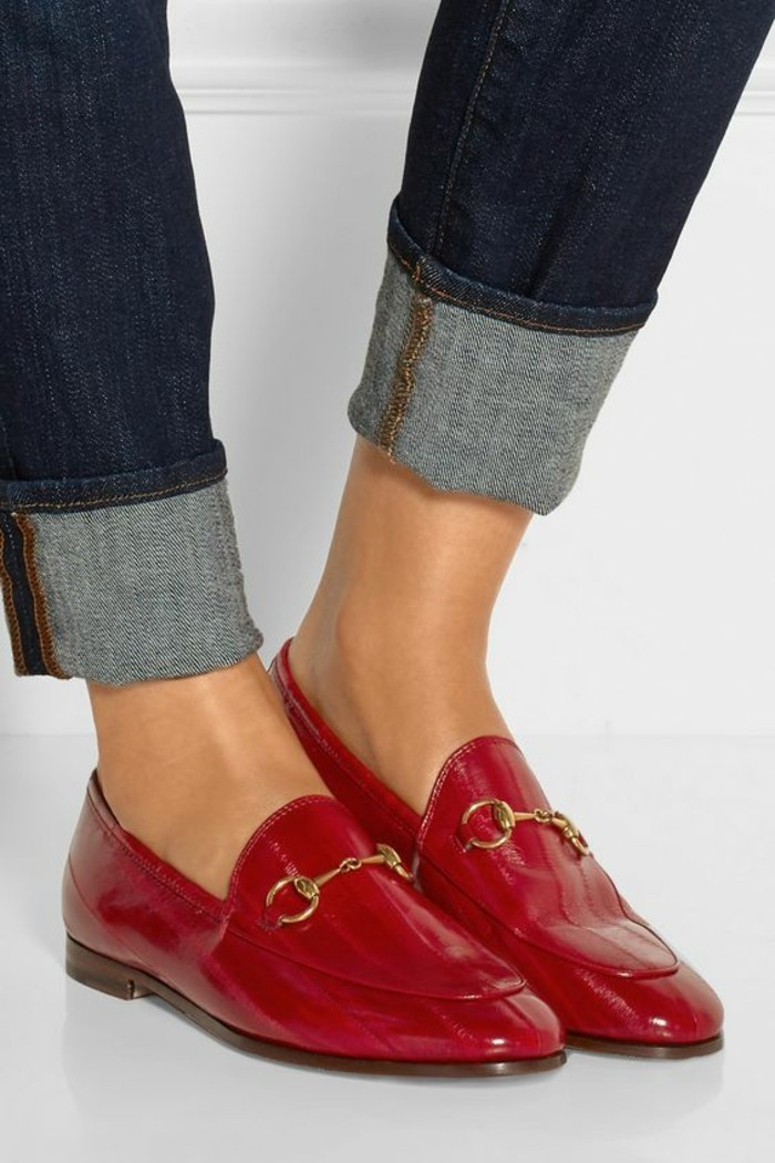 Red And Black Saddle Shoes