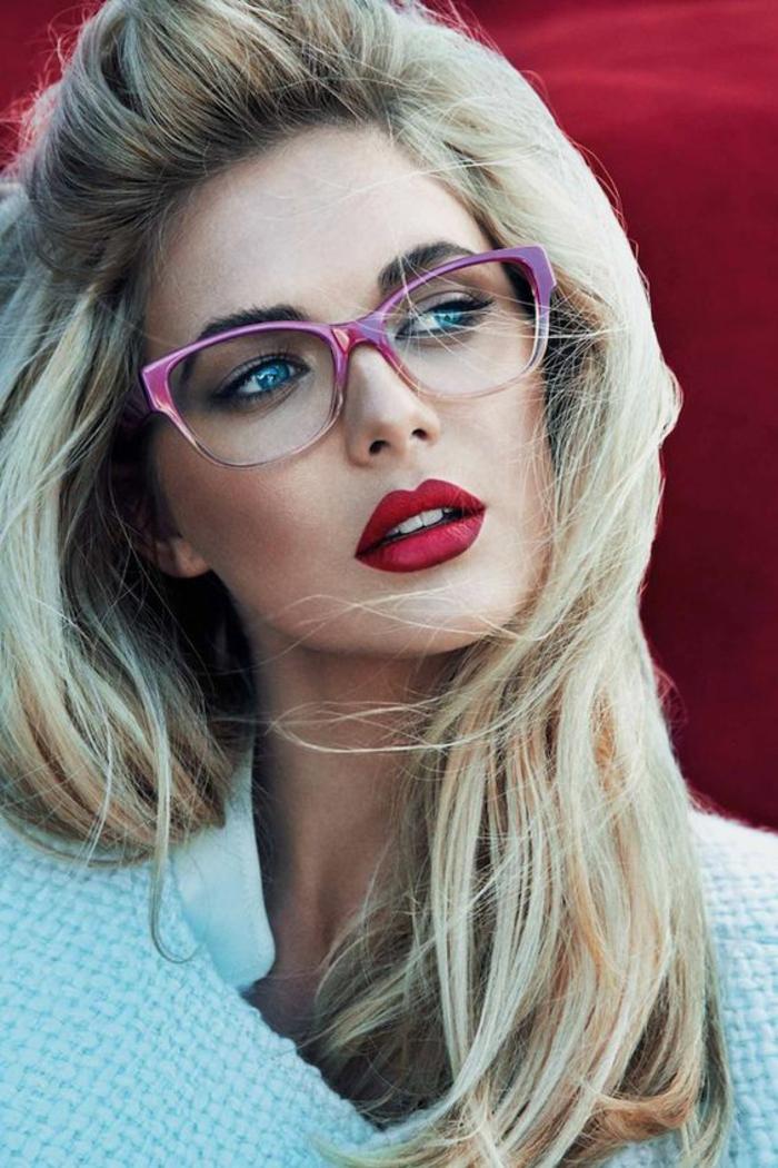monture-de-lunette-de-vue-femme-en-rose-modèle-rétro
