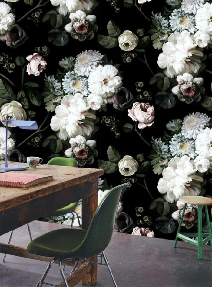 motif-floral-tapisserie-murale-originale-effet-3d-
