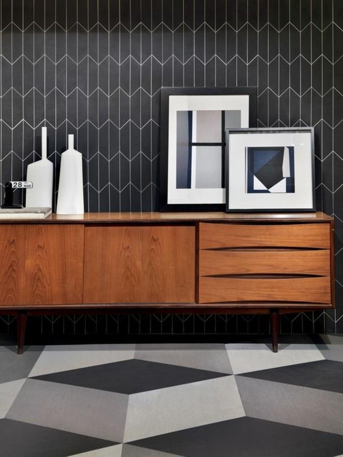 motifs-géométrqiue-papier-peint-salon-moderne-