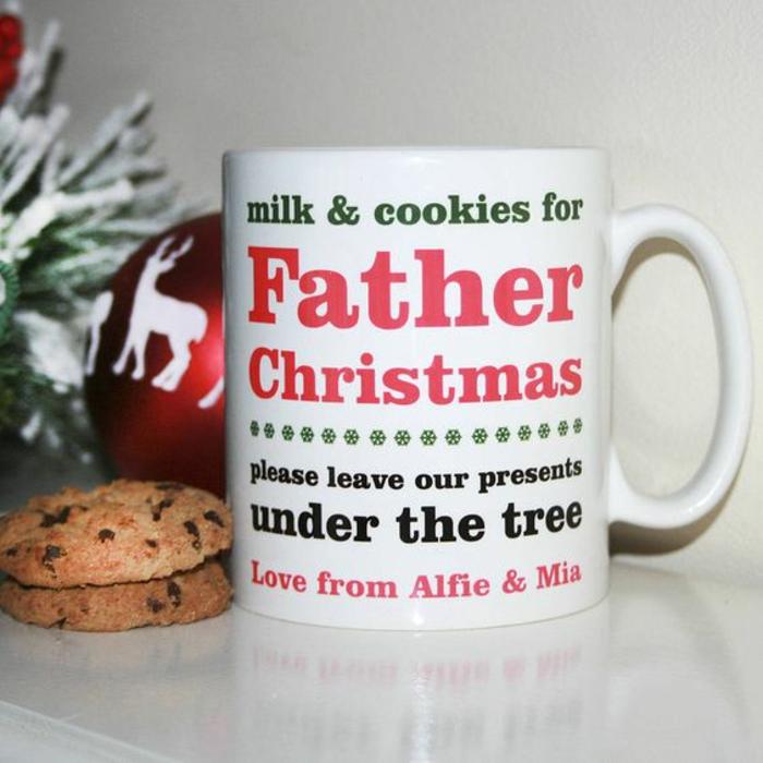 mug personnalisé, tasse originale pour père Noel
