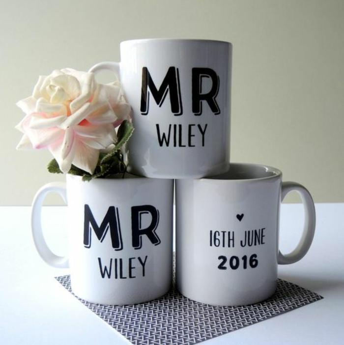 mug personnalisé pour les nouveaux mariés