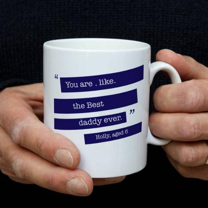 mug personnalisé, idée cadeau de père