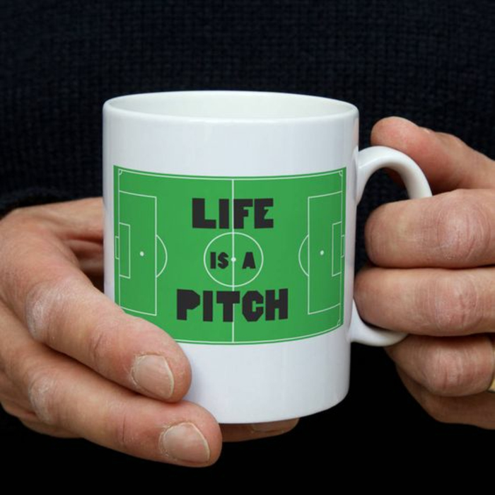 mug personnalisable, life is a pitch