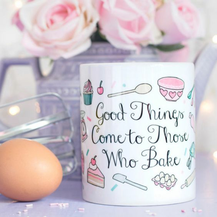 mug personnalisable, good things come to those who bake