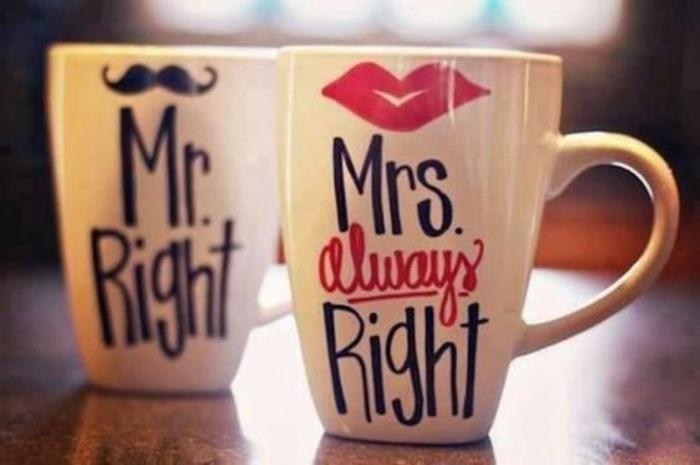mug personnalisable, por monsieur et pour madame