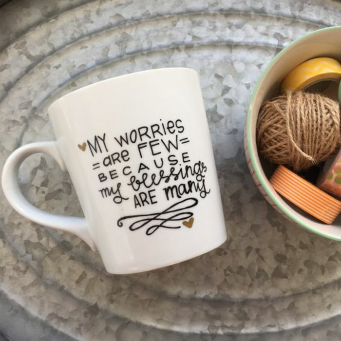 mug personnalisable, citations inspirantes sur tasses à café