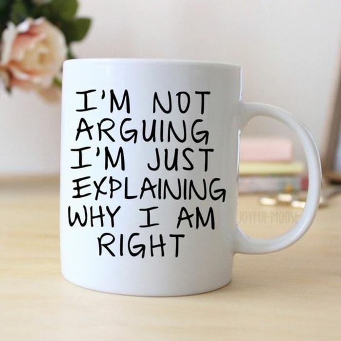 mug personnalisable, pour ceux qui disputent toujours