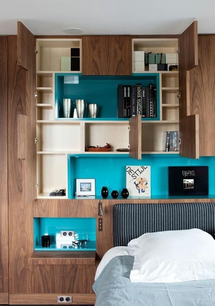 mur de rangement un mur de rangement miki kaya id es comment d corer vos int rieurs avec une. Black Bedroom Furniture Sets. Home Design Ideas