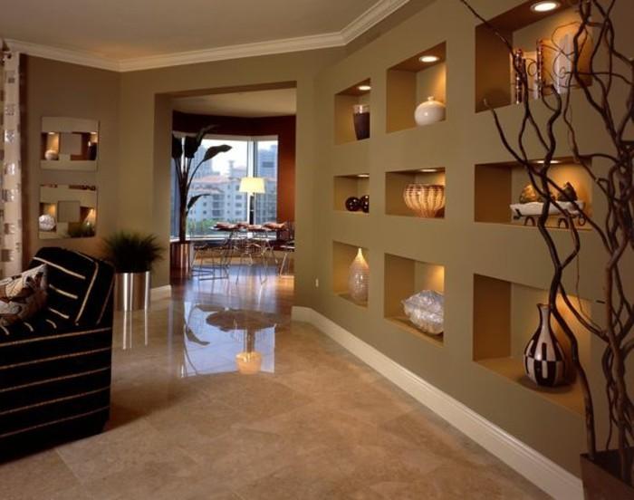decoration niche murale. Black Bedroom Furniture Sets. Home Design Ideas
