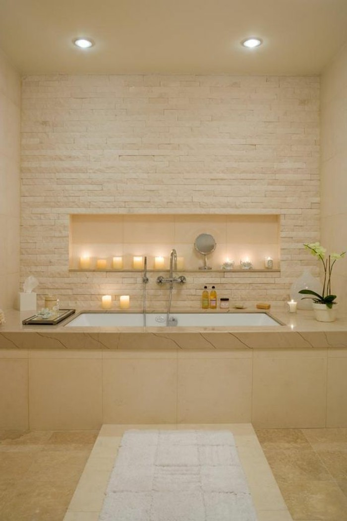 Beautiful deco niche salle de bain contemporary design for Salle de bain deco nature
