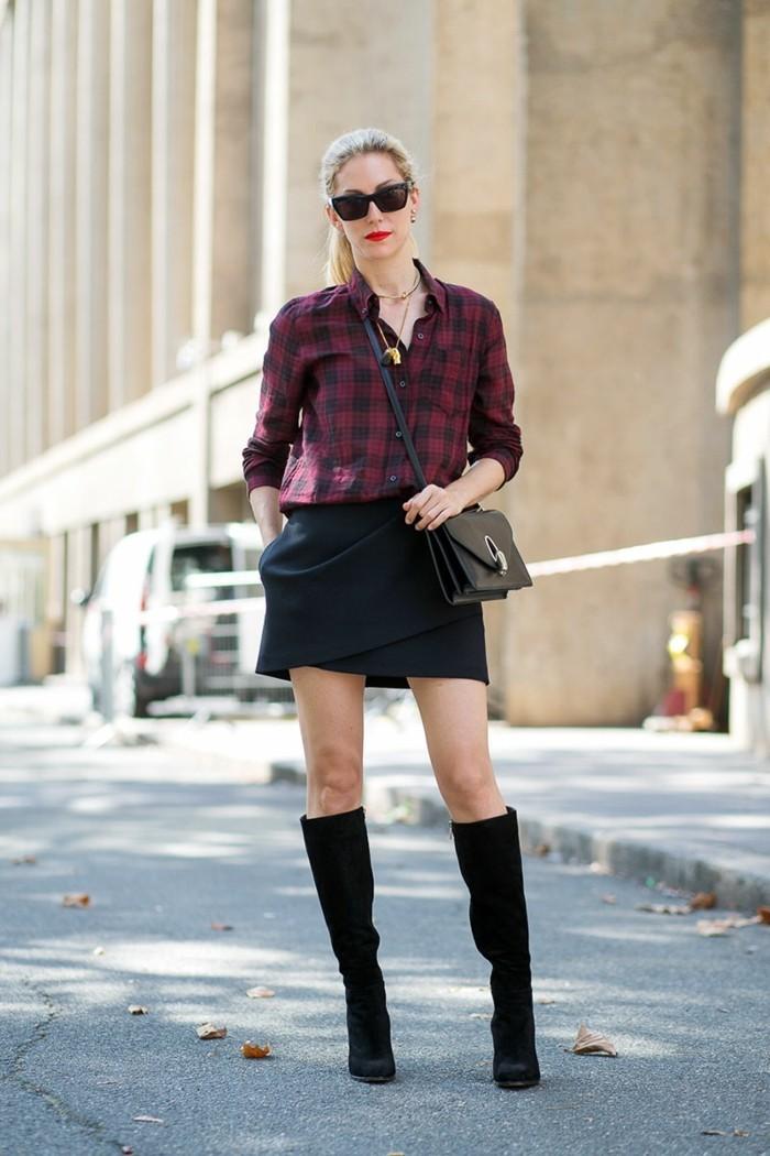 ootd-comment-s-habiller-demain-idées-tenues-chic-cool-carreau-chemise
