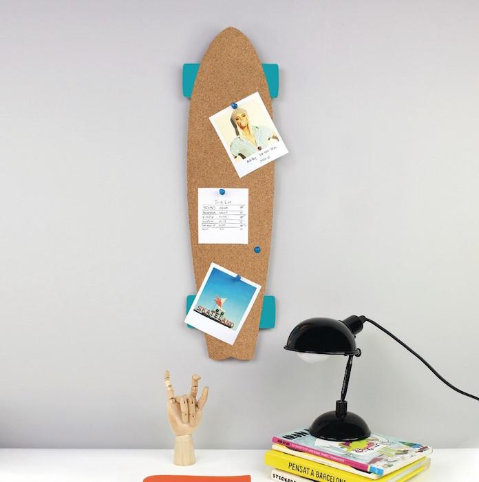 1001 id es pour transformer sa planche en tag re skateboard. Black Bedroom Furniture Sets. Home Design Ideas