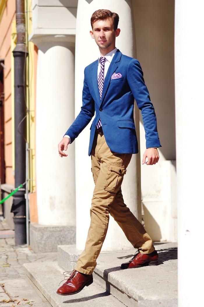 pantalon cargo homme beige marron élégant porter treillis poches