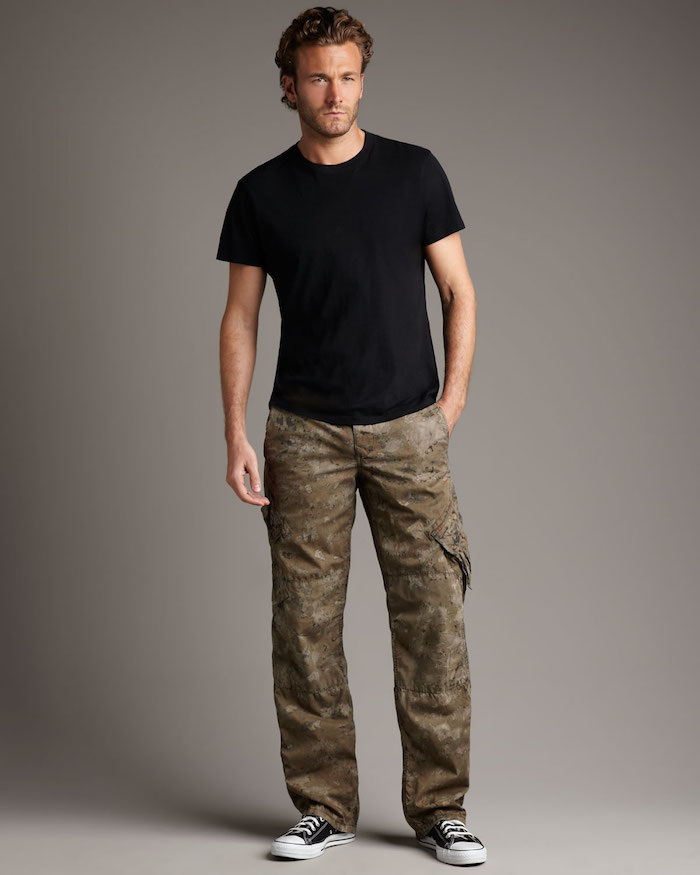 pantalon cargo homme camouflage coupe large droite all stars converse