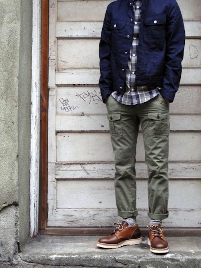 pantalon cargo militaire battle vert kaki swag style