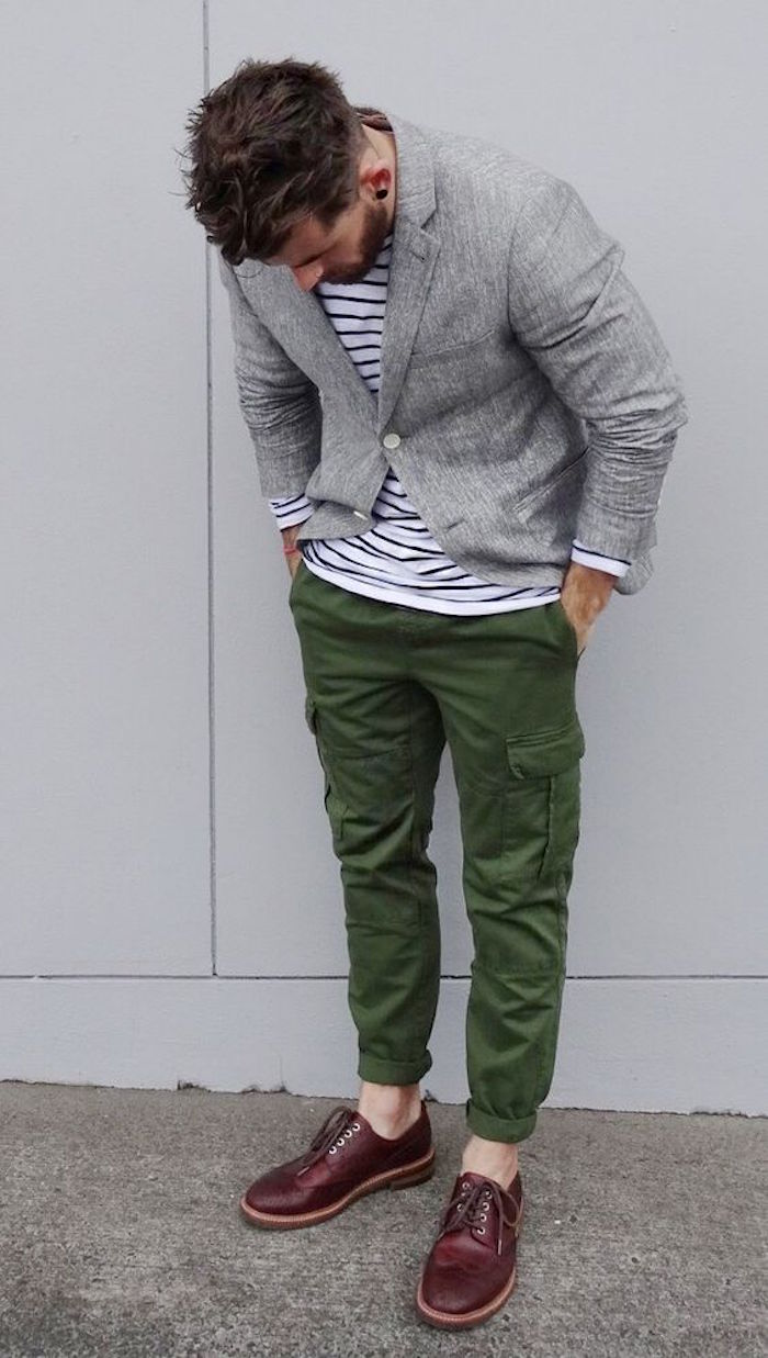 pantalon cargo militaire multipoche poche homme