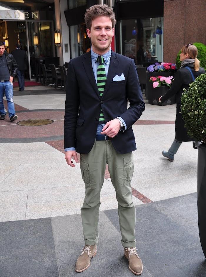 pantalon homme cargo kaki clair homme slim élégant veste