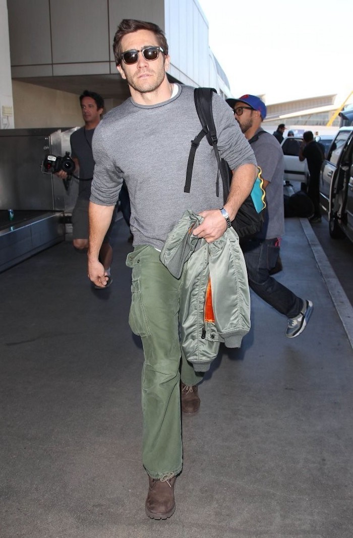 pantalon homme cargo vert kaki casual porter militaire