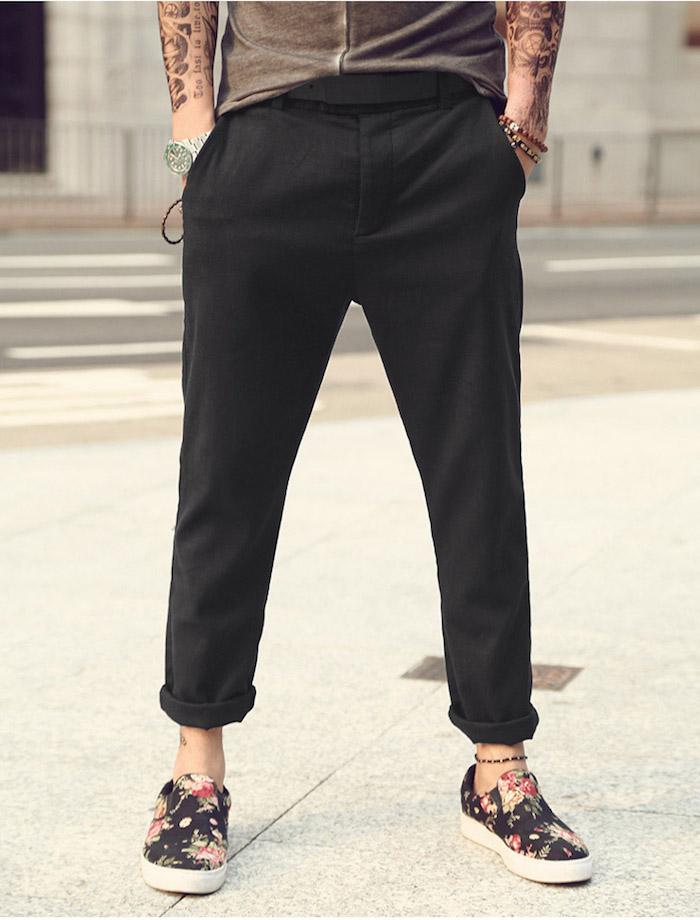 1001 id es et inspirations pour porter le pantalon lin homme. Black Bedroom Furniture Sets. Home Design Ideas
