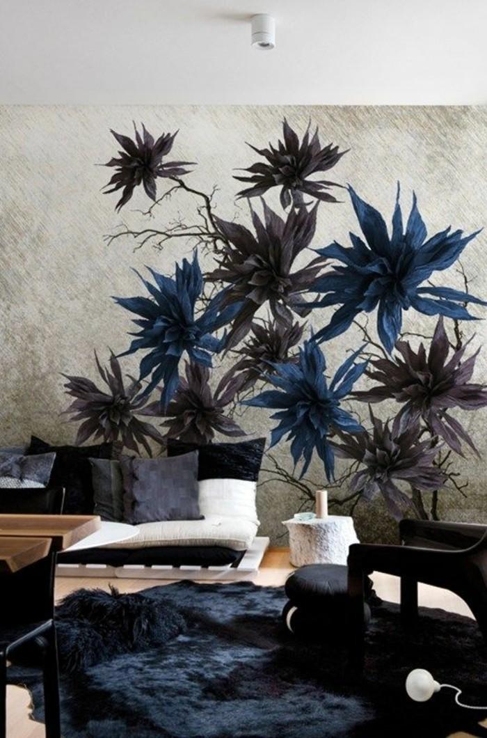 papier-peint-décoratif-papier-peint-3d-fleurs-salon-moderne-