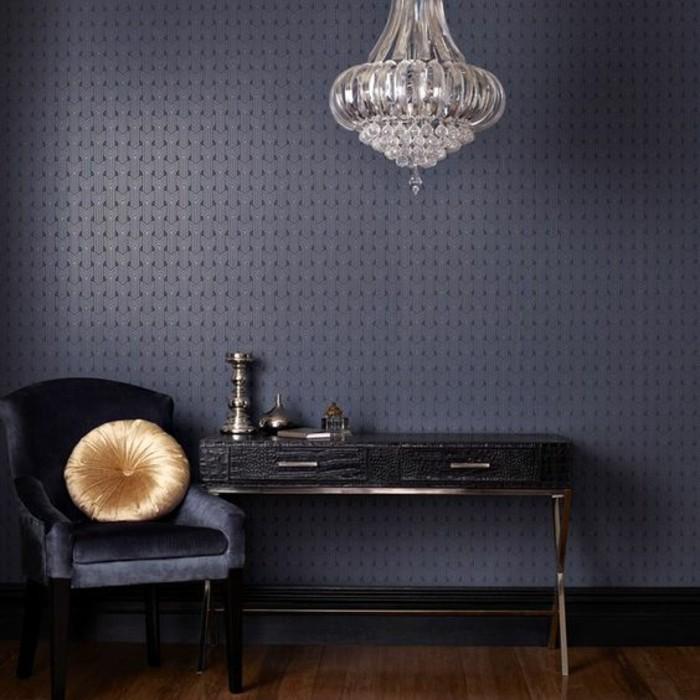 papier-peint-géométrique-élégant-salon-moderne-