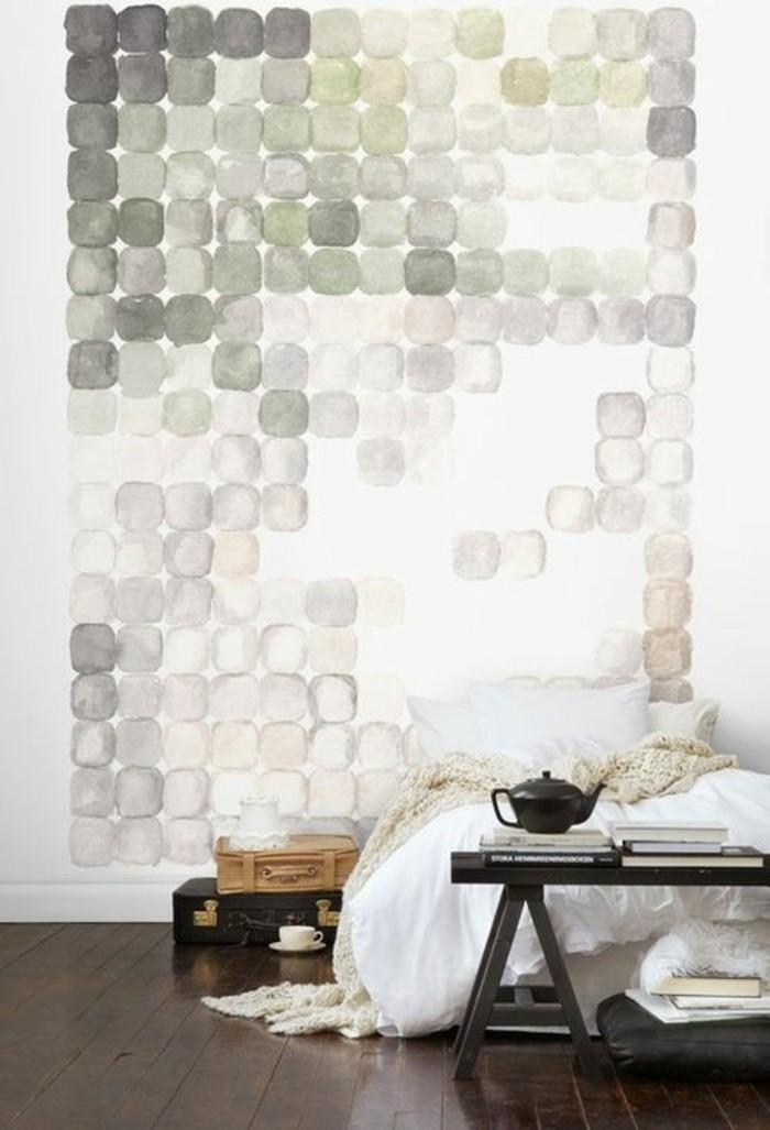 papier-peint-géométrique-chambre-à-coucher-moderne
