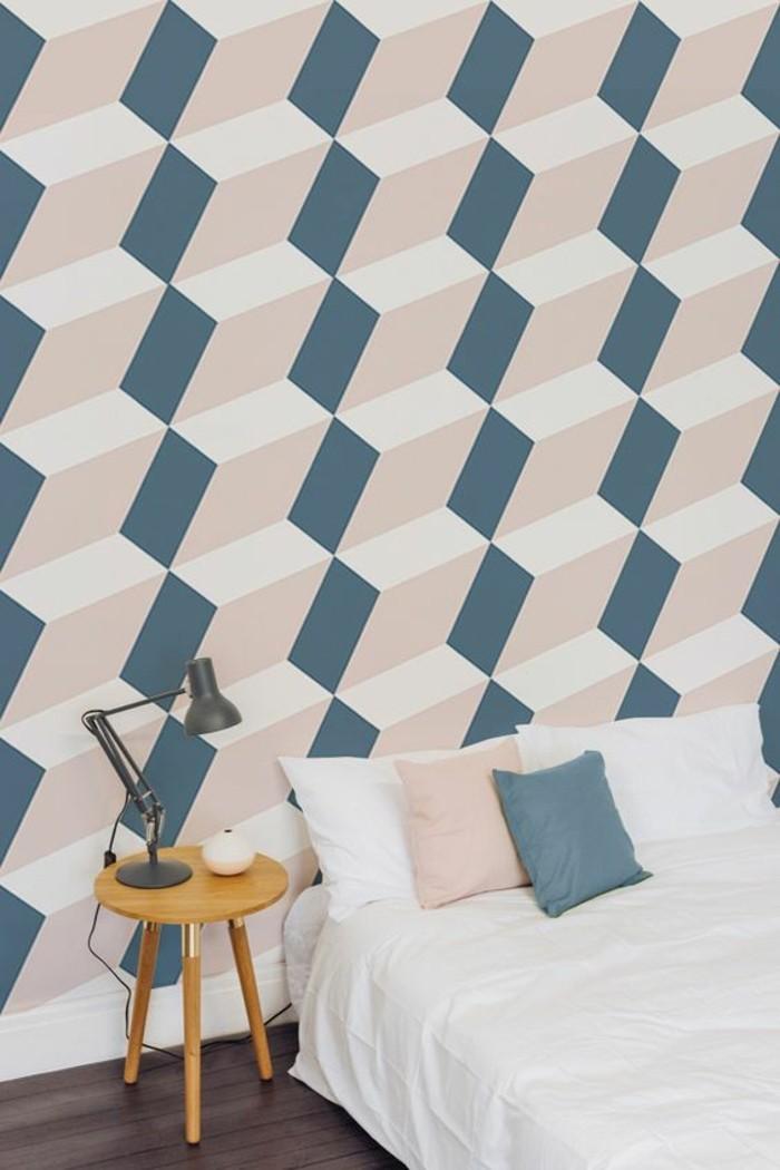 papier-peint-géométrique-couleur-pastel