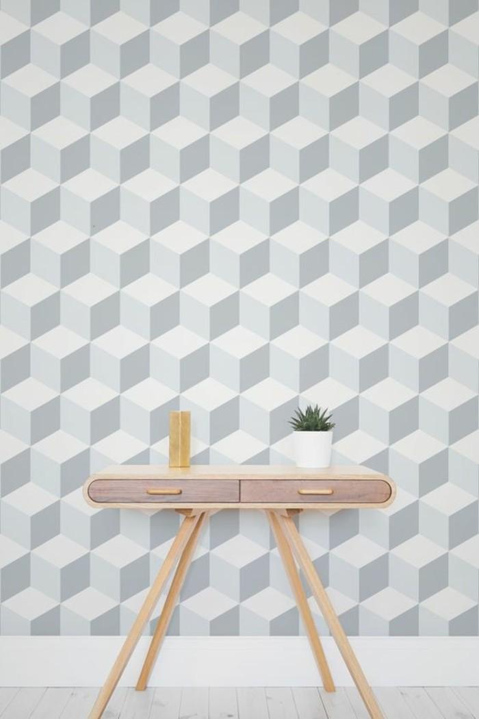 papier-peint-géométrique-intérueur-scandinave-moderne-