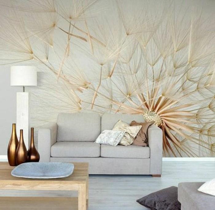 papier-peint-original-pissenlit-tapisserie-3d