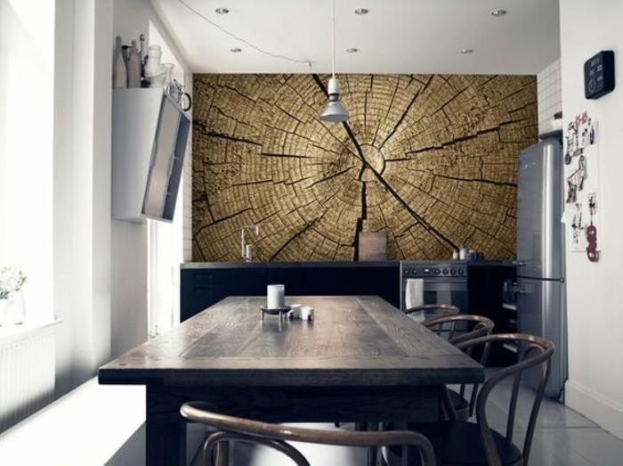 1001 mod les de papier peint 3d originaux et modernes - Papier peint cuisine moderne ...