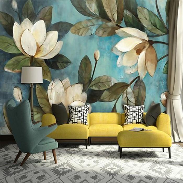 1001 mod les de papier peint 3d originaux et modernes - Decoration murale avec papier peint ...