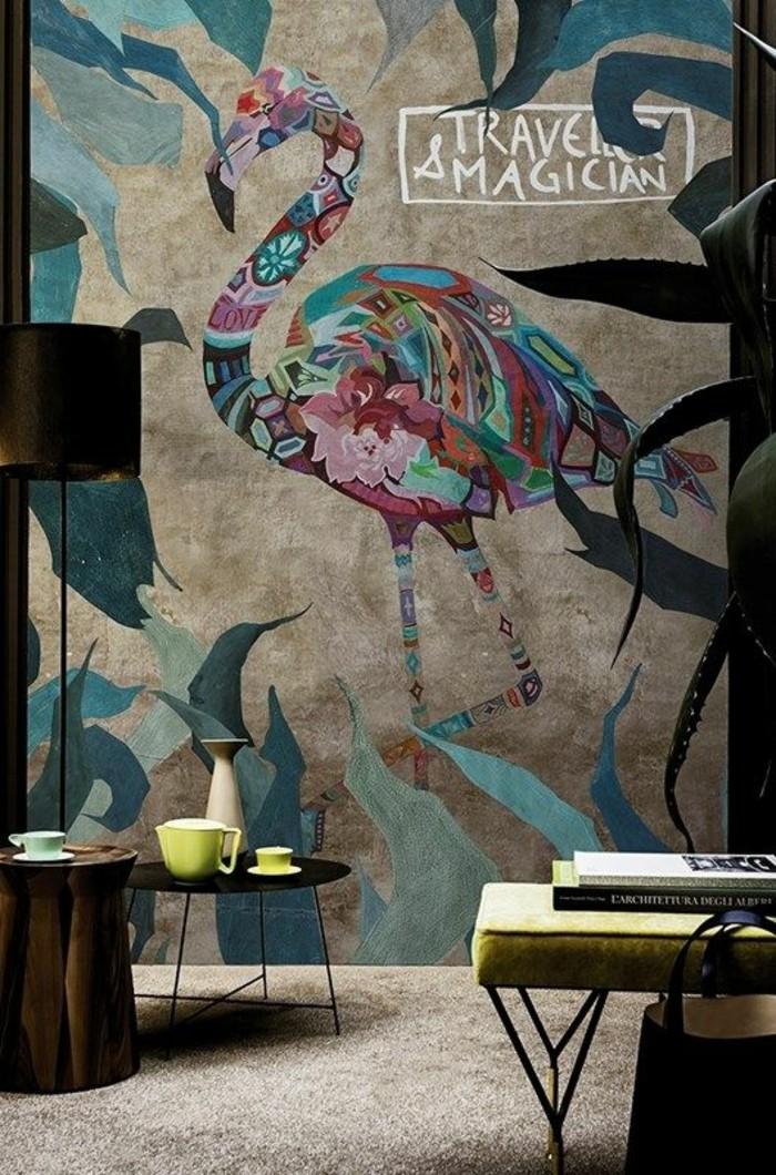 papier-peint-tropical-tapisserie-3d-originale-