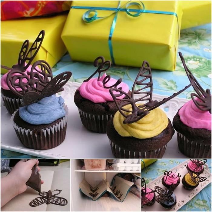 1001 id es comment faire des d cors en chocolat facilement - Deco pour cupcake ...