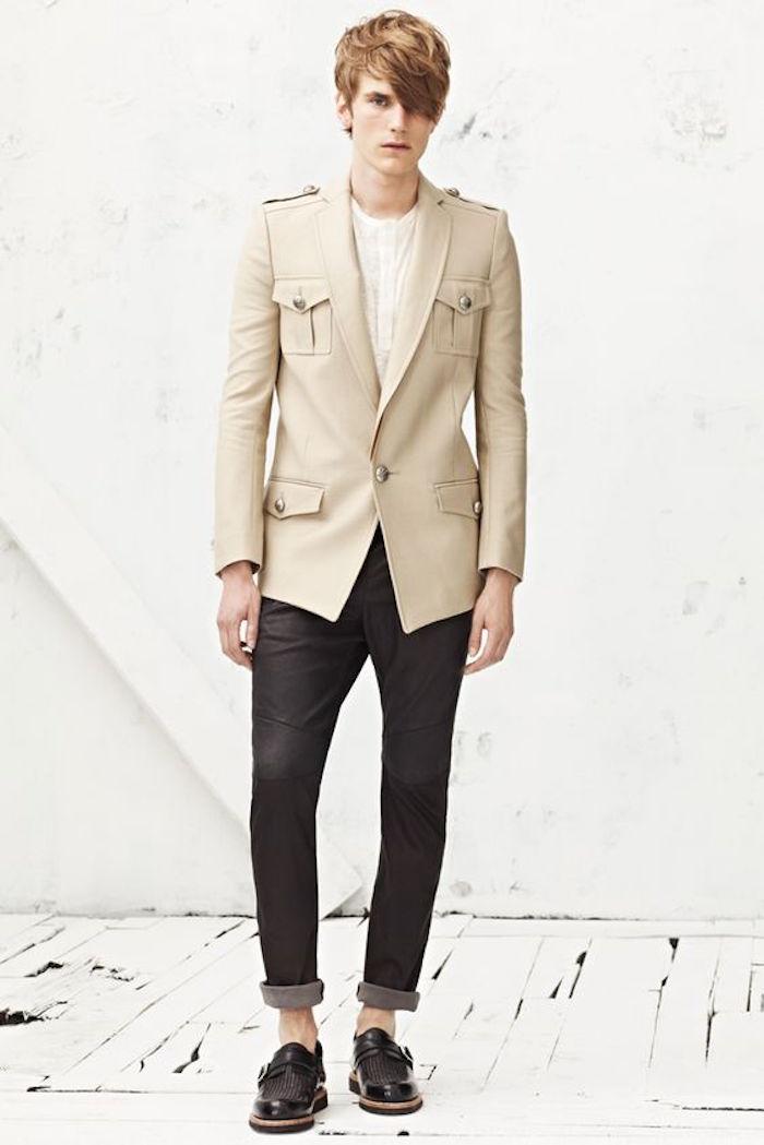 manteau homme hiver parka saharienne moderne style
