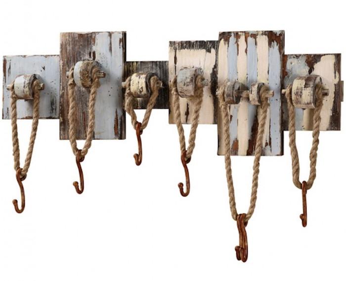 patère diy idees brico bois corde crochet design