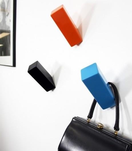 patère porte manteau design couleurs style mur