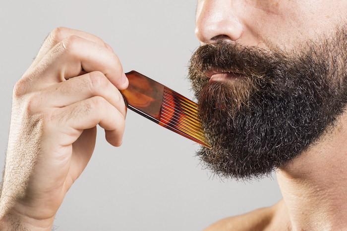 peigne pour barbe peigne keratine brosse barbe homme entretien huile