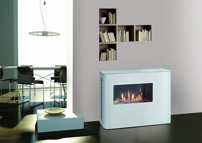 petit insert cheminée moderne design interieur idee deco feu foyer