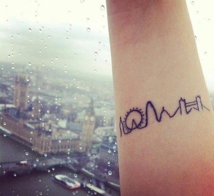 tatouage homme liberté ligne londres sur poignet idee tattoo