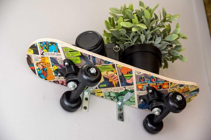 planche pour etagere deco skate idée deco diy étagère murale