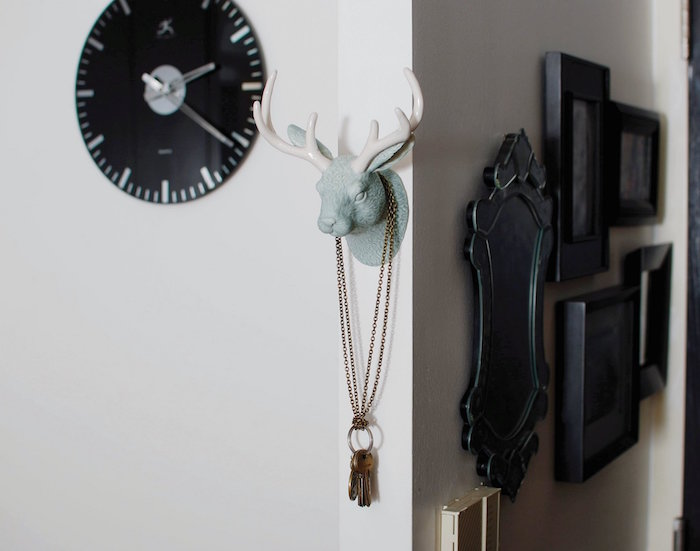 porte clé mural décoration tete de rene cerf design