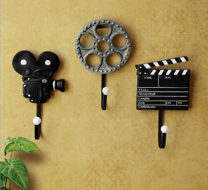 portemanteau creatif diy style caméra idee deco cinéma